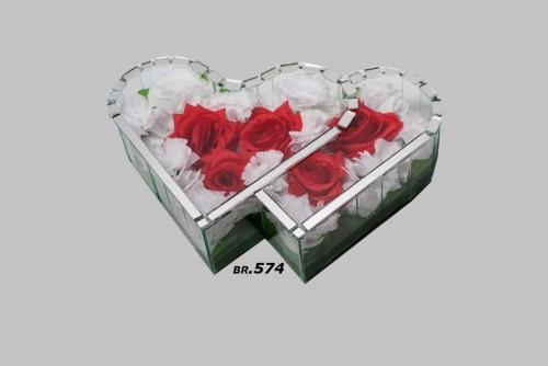 Ukrasi za groblje-duplo srce malo-750din