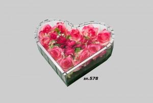 Ukrasi za groblje – srednje srce – 1000 din