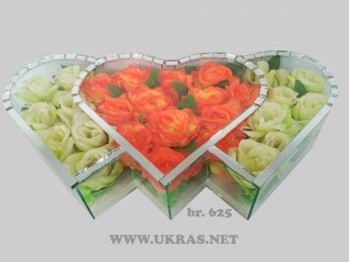 Ukrasi za groblje–trostruko srce – 1400 din